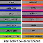betabiothanecolors DOG COLLAR made from REFLECTIVE DAY GLO BIOTHANE