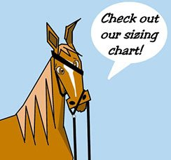 a horse saying, checkout sizing guide of twohorsetack products here