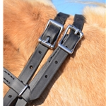 black ICELANDIC BRIDLE made from BETA BIOTHANE (Solid Colored)