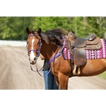 purple Traditional HALTER BRIDLE with BIT HANGERS made from BETA BIOTHANE (Solid Colored)