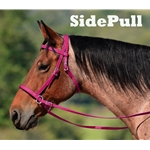 darkpink 2 in 1 BITLESS BRIDLE made from BETA BIOTHANE (Solid Colored)