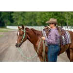 turquoise WESTERN BRIDLE (One Ear or Two Ear Split Ear Browband) made from BETA BIOTHANE (Solid Colored)