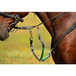 blackoverlay SLIDING RUNNING MARTINGALE ATTACHMENT made from BETA BIOTHANE (ANY 2 COLOR COMBO)