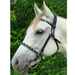 blackbase ENGLISH CONVERT-A-BRIDLE made from BETA BIOTHANE (with BLING)