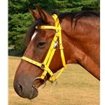 yellow Traditional HALTER BRIDLE with BIT HANGERS made from BETA BIOTHANE (with JEWELS RHINESTONES BLING)