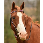 blackbase WESTERN BRIDLE (Full Browband) made from BETA BIOTHANE (With BLING)