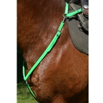 limegreen ENGLISH BREAST COLLAR made from BETA BIOTHANE (Solid Colored)