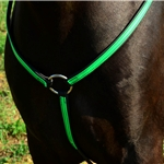 light green(lime/mint)  ENGLISH BREAST COLLAR made from BETA BIOTHANE (Any 2 COLOR COMBO)