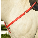 orange WESTERN BREAST COLLAR made from BETA BIOTHANE (Solid Colored)