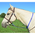 blue STANDING MARTINGALE made from BETA BIOTHANE (Solid Colored)