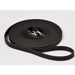 black LUNGE or LONGE LINE made from Beta Biothane - Any Length
