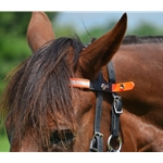 orange Quick Change HALTER BRIDLE with Snap on Browband made with REFLECTIVE DAY GLO Biothane