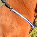 blue WESTERN BREAST COLLAR made with REFLECTIVE DAY GLO Biothane