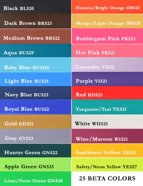 23 dazzling colors of beta biothane