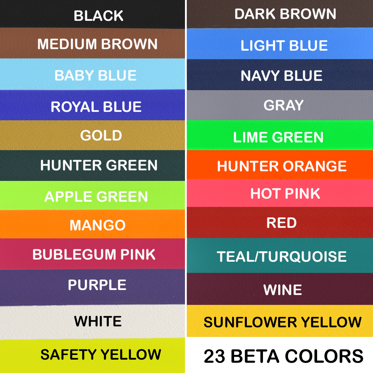 14 dazzling colors of beta biothane