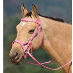 pink SIDEPULL Bitless Bridle made from BETA BIOTHANE (Solid Colored)