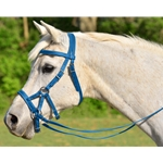 lightblue SIDEPULL Bitless Bridle made from BETA BIOTHANE (Solid Colored)