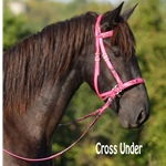 pinkcamo 2 in 1 BITLESS BRIDLE with CAMOUFLAGE Biothane