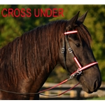 redoverlay 2 in 1 BITLESS BRIDLE made with REFLECTIVE DAY GLO Beta Biothane