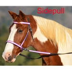 hotpinkoverlay 2 in 1 BITLESS BRIDLE made with REFLECTIVE DAY GLO Beta Biothane