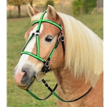 lightgreen(lime/mint)overlay MEDIEVAL BAROQUE WAR or PARADE BRIDLE made from BETA BIOTHANE (ANY 2 COLOR COMBO)