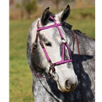 pink(hot/neon)overlay MEDIEVAL BAROQUE WAR or PARADE BRIDLE made from BETA BIOTHANE (ANY 2 COLOR COMBO)