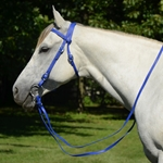 bluebetabiothane WESTERN BRIDLE (Full Browband) made from BETA BIOTHANE (Solid Colored)