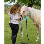 white Buckle Nose Safety HALTER & LEAD made from BETA BIOTHANE (Solid Colored)