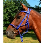 blue  Snap on Browband WESTERN BRIDLE made from BETA BIOTHANE (Solid Colored)