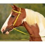 yellow Snap on Browband WESTERN BRIDLE made from BETA BIOTHANE (Solid Colored)