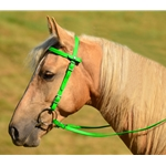 limegreen Snap on Browband WESTERN BRIDLE made from BETA BIOTHANE (Solid Colored)
