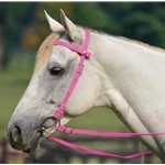 hotpink Snap on Browband WESTERN BRIDLE made from BETA BIOTHANE (Solid Colored)