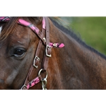 pinkcamouflage Snap on Browband WESTERN BRIDLE made with CAMOUFLAGE Beta Biothane
