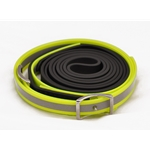 yellowdayglooverlay RIDING REINS with REFLECTIVE DAY GLO made from BETA BIOTHANE