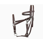 white Traditional HALTER BRIDLE with BIT HANGERS made from BETA BIOTHANE (Solid Colored)