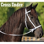 white 2 in 1 BITLESS BRIDLE made from BETA BIOTHANE (Solid Colored)