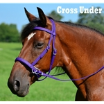 purple 2 in 1 BITLESS BRIDLE made from BETA BIOTHANE (Solid Colored)