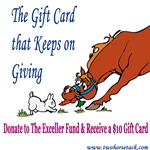 THE EXCELLER FUND & Two Horse Tack Gift Card Giving