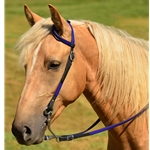 purple(med-dark) WESTERN BRIDLE (One Ear or Two Ear Split Ear Browband) made from BETA BIOTHANE (ANY 2 COLOR COMBO)