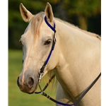 dark blue(royal/cobalt) WESTERN BRIDLE (One Ear or Two Ear Split Ear Browband) made from BETA BIOTHANE (ANY 2 COLOR COMBO)