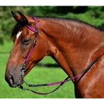 maroon(burgundy/wine) WESTERN BRIDLE (One Ear or Two Ear Split Ear Browband) made from BETA BIOTHANE (ANY 2 COLOR COMBO)