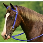 darkblue WESTERN BRIDLE (One Ear or Two Ear Split Ear Browband) made from BETA BIOTHANE (Solid Colored)