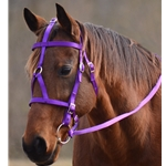 MEDIEVAL BAROQUE WAR or PARADE BRIDLE made from NYLON