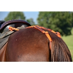orangecamooverlay SADDLE CRUPPER with CAMOUFLAGE Beta Biothane