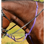 purple RUNNING MARTINGALE made from BETA BIOTHANE  (Solid Colored)