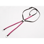 pink(hot/neon)overlay RUNNING MARTINGALE made from BETA BIOTHANE (ANY 2 COLOR COMBO)