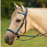 lightblue (teal/sky)overlay 2 in 1 BITLESS BRIDLE made from BETA BIOTHANE (Any 2 COLOR COMBO)
