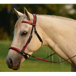 maroon (burgundy/wine)overlay  2 in 1 BITLESS BRIDLE made from BETA BIOTHANE (Any 2 COLOR COMBO)