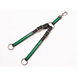 lightgreen (lime/mint)overlay  RUNNING MARTINGALE ATTACHMENT made from BETA BIOTHANE (ANY 2 COLOR COMBO)