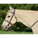 PICNIC BRIDLE or SIMPLE HALTER BRIDLE made from BETA BIOTHANE (with JEWELS RHINESTONES BLING)